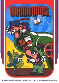 Before Super Mario Bros., there was the slightly less famous arcade machine, Mario Bros. We look back at Mario's first eponymous outing. Super Mario Bros, Super Nintendo, Nintendo Games, Classic Video Games, Retro Video Games, Retro Games, Mario Bros Arcade, Mario Y Luigi, Childhood