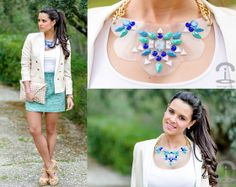 Diy Necklace, Mango Blazer, Pedro Miralles Sandals