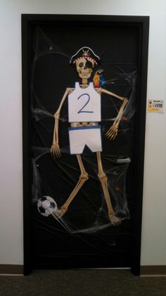 Halloween office door decorations