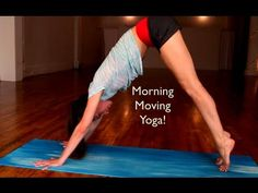 This is a great quick morning yoga routine. Its only 6 mins. for those of us who do not have a lot of extra time in the morning. Yoga to Get Your Morning Moving!