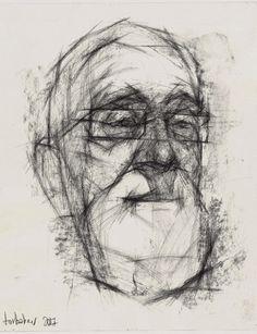 Expressive drawing portraits by Vadim Torbakov - Ego - AlterEgo Vine Charcoal, Charcoal Sketch, Charcoal Paper, Charcoal Drawing, Portrait Sketches, Drawing Portraits, Art Sketches, Paper Drawing, Paper Art