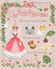 french cross stitch pattern & charm : little princess une petite princesse madame la fee counted cross stitch pattern diy. $23.00, via Etsy.