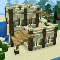 So here's a little desert survival house. I always struggle with desert buil… - Minecraft World Minecraft Building Guide, Minecraft Houses Survival, Minecraft Plans, Minecraft Houses Blueprints, Minecraft Tutorial, Minecraft Crafts, Minecraft Houses Xbox, Minecraft Stuff, Minecraft Desert House