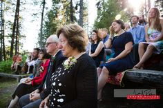 All natural stadium seating for the big show. #wedding #idaho #documentary #ceremony #outdoors #nature #trees #guests