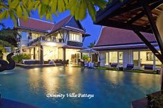 Divinity Villa in Pattaya. If you enter the property you will be impressed by the traditional Thai roof over her head. A Thai outer roof is also available to help you donate a shaded view of the garden. Even the luxurious main building offers a spectacular view of the roofs.