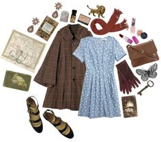 A fashion look from December 2012 featuring fitted dress, swing coats and black flat shoes. Browse and shop related looks. Vintage Inspired Outfits, Retro Outfits, Vintage Outfits, Cute Outfits, Vintage Fashion, Flapper Shoes, Fasion, Fashion Outfits, Plaid Mini Skirt