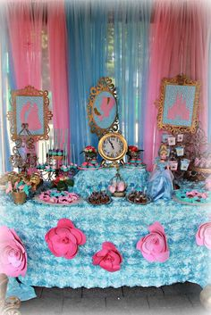 Cinderella birthday party dessert table! See more party ideas at CatchMyParty.com!