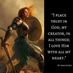 St Joan of Arc quote - Jesus Quote - Christian Quote - Joan of Arc Catholic quote for inspiration The post St Joan of Arc quote appeared first on Gag Dad. Joan D Arc, Saint Joan Of Arc, St Joan, Jeanne D'arc, Joan Of Arc Quotes, Joan Of Arc Facts, Inspirational Catholic Quotes, Ella Enchanted, Saint Quotes