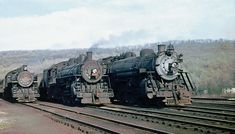Erie K class Pacific Steam Locomotives with their commuter trains are seen at Midvale, New Jersey, 05-07-1950 | Flickr - Photo Sharing!