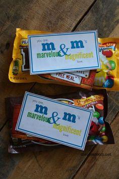 m&m printable gift tag for Teacher Appreciation Week | theidearoom.net