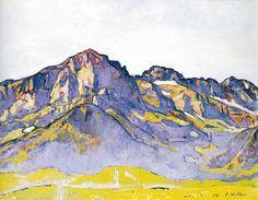 Ferdinand Hodler - Symbolism - Switzerland - Mountain Landscape