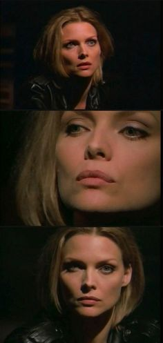 """Michelle Pfeiffer in the hit """"gangsta's paradise"""" video clip for the soundtrack of the movie """"Dangerous Minds""""."""