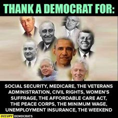 It's sad to see todays Democratic Party... current leadership has sold-out to Corporate Interests and are no longer a liberal party who accomplished things like above !
