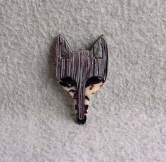 Lea Stein Fox Pin Face Brooch 3 Signed Paris by Kissisjustakiss