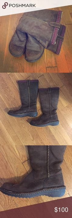 Ugg Australia Weatherproof boots Ugg Australia Weatherproof boots with leather upper leather and genuine sheepskin lining. Rubber outer. Worn only a couple times and in great condition! Accepting offers! UGG Shoes Winter & Rain Boots