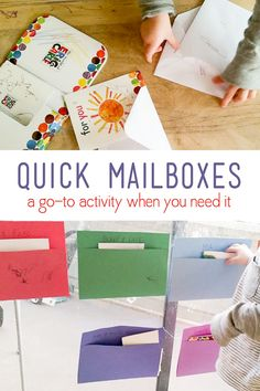 Make quick mailboxes when you need something for the kids to do