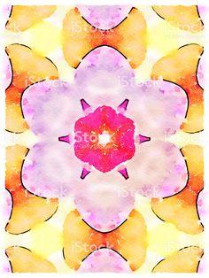 Watercolor Mandala Illustration - Royalty-free Abstract Stock Photo Image T, Video Image, Watercolor Mandala, Watercolour, Abstract Photos, Abstract Backgrounds, Photo Illustration, Watercolor Illustration, Photo Composition
