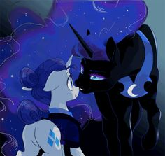 Lunarity (Animated) by equumamici I dont ship thi My Little Pony Comic, My Little Pony Characters, My Little Pony Drawing, My Little Pony Pictures, Anim Gif, My Little Pony Wallpaper, My Little Pony Princess, Nightmare Moon, Little Poni
