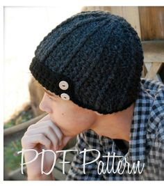 Crochet PATTERN-The Aldan Cap (Toddler, Child, Adult sizes) - Crochet &amp, Knitting Instant Download Patterns for Baby and Audlt