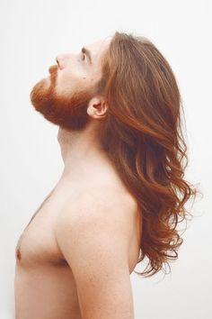 """for-redheads: """"Dominic Hauser by Pia Schweisser """" Ginger Men, Ginger Beard, Ginger Hair, Ginger Snap, Hair And Beard Styles, Long Hair Styles, Long Hair Beard, Redhead Men, Robert Mapplethorpe"""
