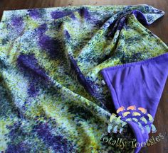 Custom dyed OBV blanket-Lovey size