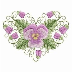 Pansy Beauty 9 - 4x4   Valentine's Day   Machine Embroidery Designs   SWAKembroidery.com Ace Points Embroidery