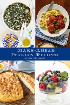 Italian recipes are always a crowd pleaser! These are some of our favorites, perfect for easy entertaining. Top Recipes, Summer Recipes, Beef Recipes, Amazing Recipes, Culinary Classes, Easy Entertaining, Cafe Food, Fabulous Foods, Food Dishes