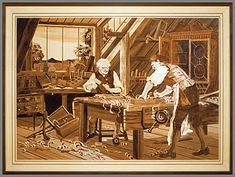 The Craftsmen Intarsia Patterns, 18th Century, Wood Art, Craftsman, Gallery, Artist, Painting, Marquetry, Wood