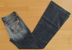7 Seven for all Mankind Jeans Dojo Carribean Extreme Stretch Trouser Flare 29 34 #Fashion #Style #Deal