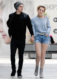 Bella Thorne and Gregg Sulkin out and about in Culver City on May 20, 2016.
