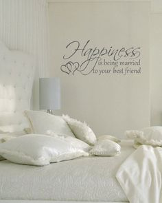 Happiness is being married to your best friend couples romantic vinyl  wall  decal. $28.00, via Etsy.