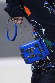 #Chanel Fall 2013 fashion shoes, fall fashions, fashion models, amaz handbag, dress, cobalt blue, awesom handbag, chanel fall, bags