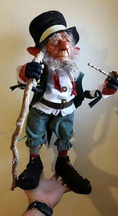 Siro - Duendes De Alta Gama                                                                                                                                                                                 Más Woodland Creatures, Magical Creatures, Trolls, Kobold, Marionette, Elf Doll, Elves And Fairies, Dragons, Polymer Clay Dolls