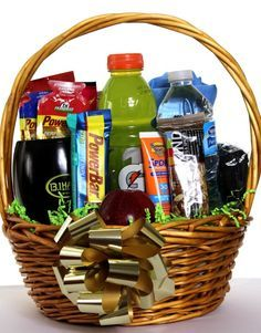 Create a runner gift basket with goodnessknows snack squares for female coaches gifts foot soak creams polish etc too negle Choice Image