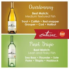 Looking for the perfect fish pairing? See our quick guide below and visit our website for some delicious recipes from @FoodNetwork. #loveyourfoodloveyourwine https://www.entwine-wines.com/pairings/search