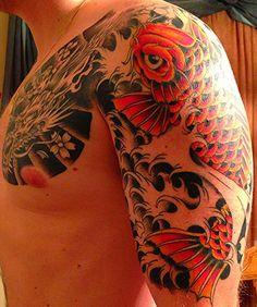 dragon koi tattoo color - Buscar con Google