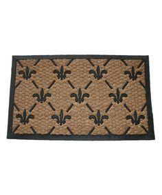 Look at this #zulilyfind! Fleur de Lis Doormat #zulilyfinds