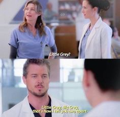 Meredith Lexie and Mark shared by Grey's Anatomy - Little Grey & Big Grey 😂 Imágenes efectivas que le proporcionamos sobre diy home decor Una image - Greys Anatomy Funny, Greys Anatomy Facts, Grays Anatomy Tv, Grey Anatomy Quotes, Anatomy Humor, Grey Quotes, Tv Quotes, Lexie And Mark, Mark Sloan