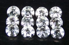Masterpiece Natural African White Topaz 4 MM Cut Round If/VVS Loose Gem (2) AAA