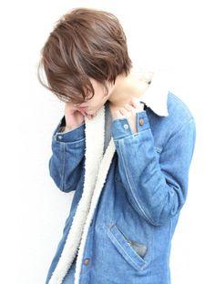 レウナ 外苑前(Reuna) 黒髪アッシュふわっとしたニュアンスショートボブ
