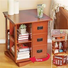 CHAIR SIDE REVOLVING LIBRARY | Get Organized