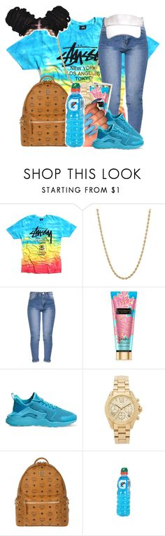 """4:17"" by legendaryjordyn ❤ liked on Polyvore featuring Everlasting Gold, NIKE, Michael Kors and MCM"