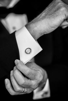 cufflinks elegant romantic wedding capitol hill washington dc K Thompson Photography1 275x412 Elegant and Romantic Wedding Ceremony on Capitol Hill in DC: Jessie + Will