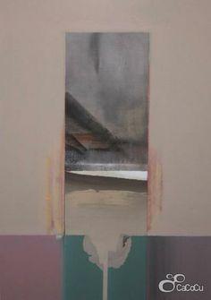 """Estela II"". Dámaso Ruano. Técnica: Técnica mixta y collage. Dimensiones: 51 x 73 cm"