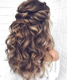 Wedding Hairstyles For Long Hair, Down Hairstyles, Braided Hairstyles, Formal Hairstyles, Long Prom Hair, Hair For Prom, Bride Hairstyles For Long Hair, Cute Prom Hairstyles, Classic Hairstyles