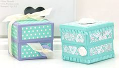 POOTLES Stampin Up UK Small Lidded Cube Box Video Tutorial 2