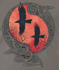 HUGIN & MUNIN Odin's ravens. Thought and Memory.