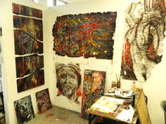 artists work space , my third year Creative People, Artist At Work, Third, Studios, Artists, Space, Painting, Color, Display