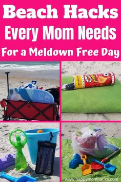 20 Beach Tips & Hacks for a meltdown-free day with the kids. Easy tips and tricks to make a family day at the beach stress-free and fun. How to prepare for the beach, hide your keys & money, keep the sand off, save your phone, and more. Don't miss out on these Beach Tricks you'll want before you go! Tips And Tricks, Beach Activities, Travel Activities, Travel With Kids, Family Travel, Family Vacation Destinations, Beach Vacations, Travel Destinations, Vacation Ideas