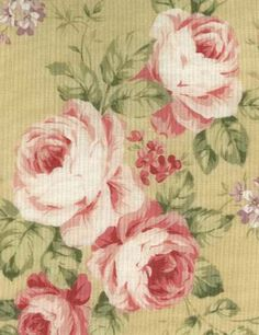 love the look of painted roses on fabrics